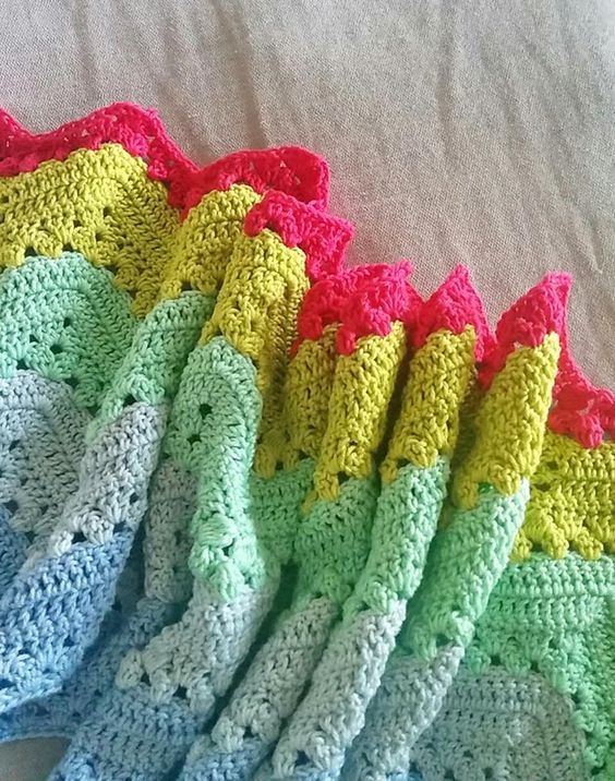 Granny chevron ripple blanket a week of crochet | Crochet Squares ...