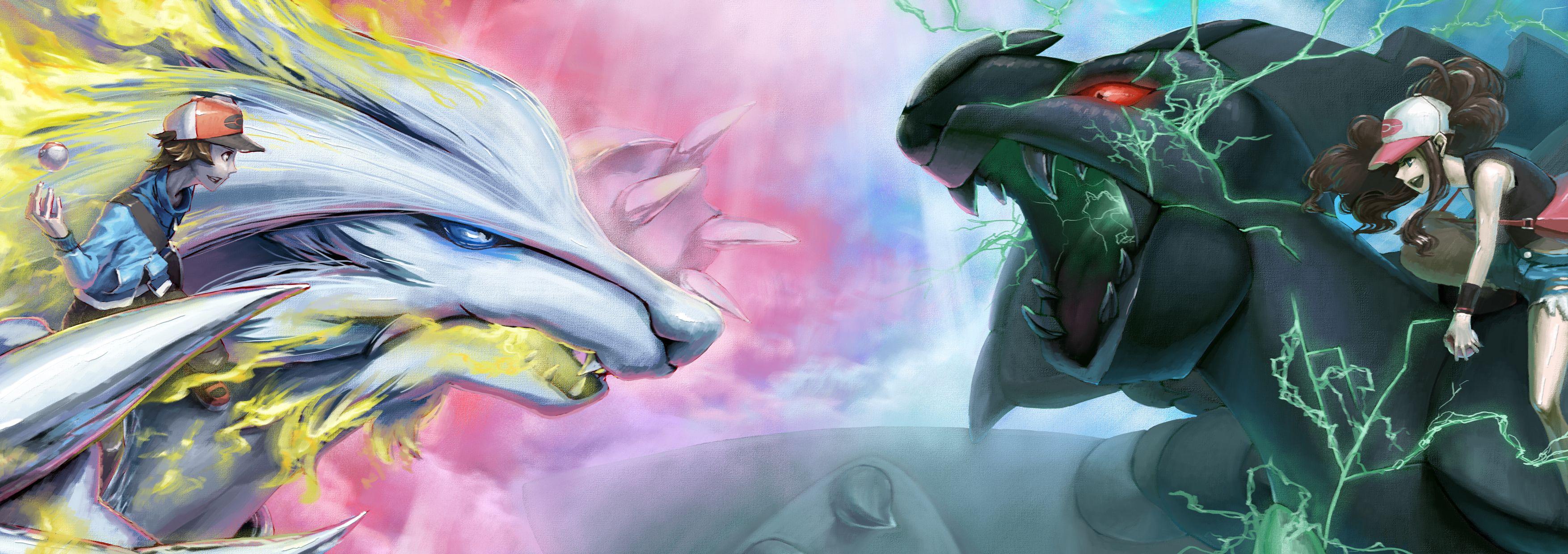 Anime Pokemon Pokémon Reshiram Zekrom Wallpaper