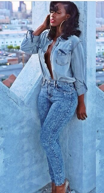 2e1e8055b90 Bria Myles Black Girl Swag, Black Girls Rock, Dope Fashion, Denim Fashion,