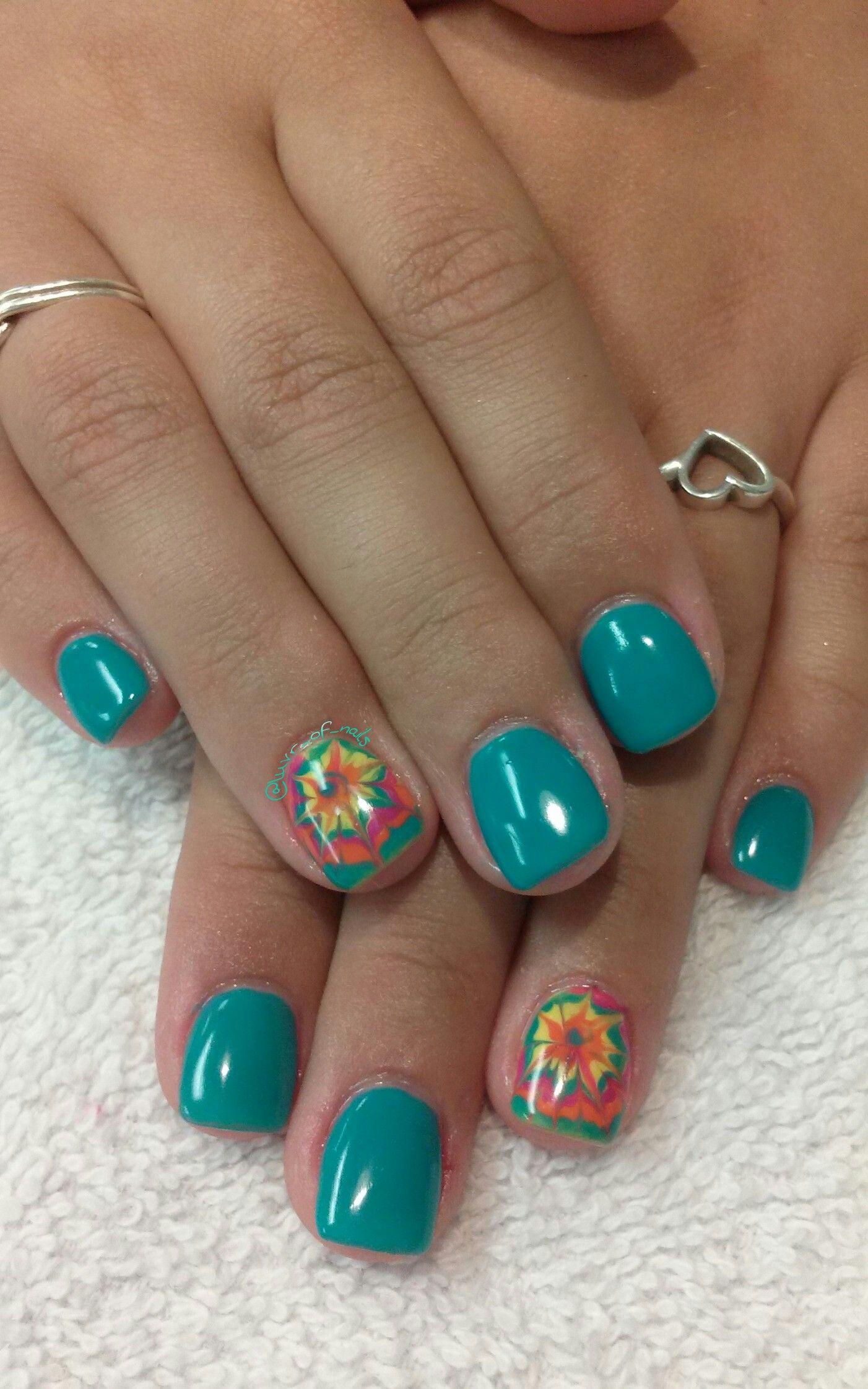 Tie Dye Nail Art Love These Nails Pinterest Tie Dye Nails