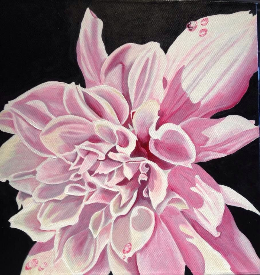 Pink lady 2015. Acrylics on canvas available from chubbypeacock on Etsy