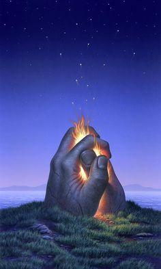 Embers Turn to Stars Art Print by Jerry LoFaro