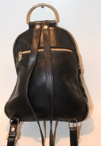 VALENTINA Vintage Made In Italy Pebbled Black Leather Back
