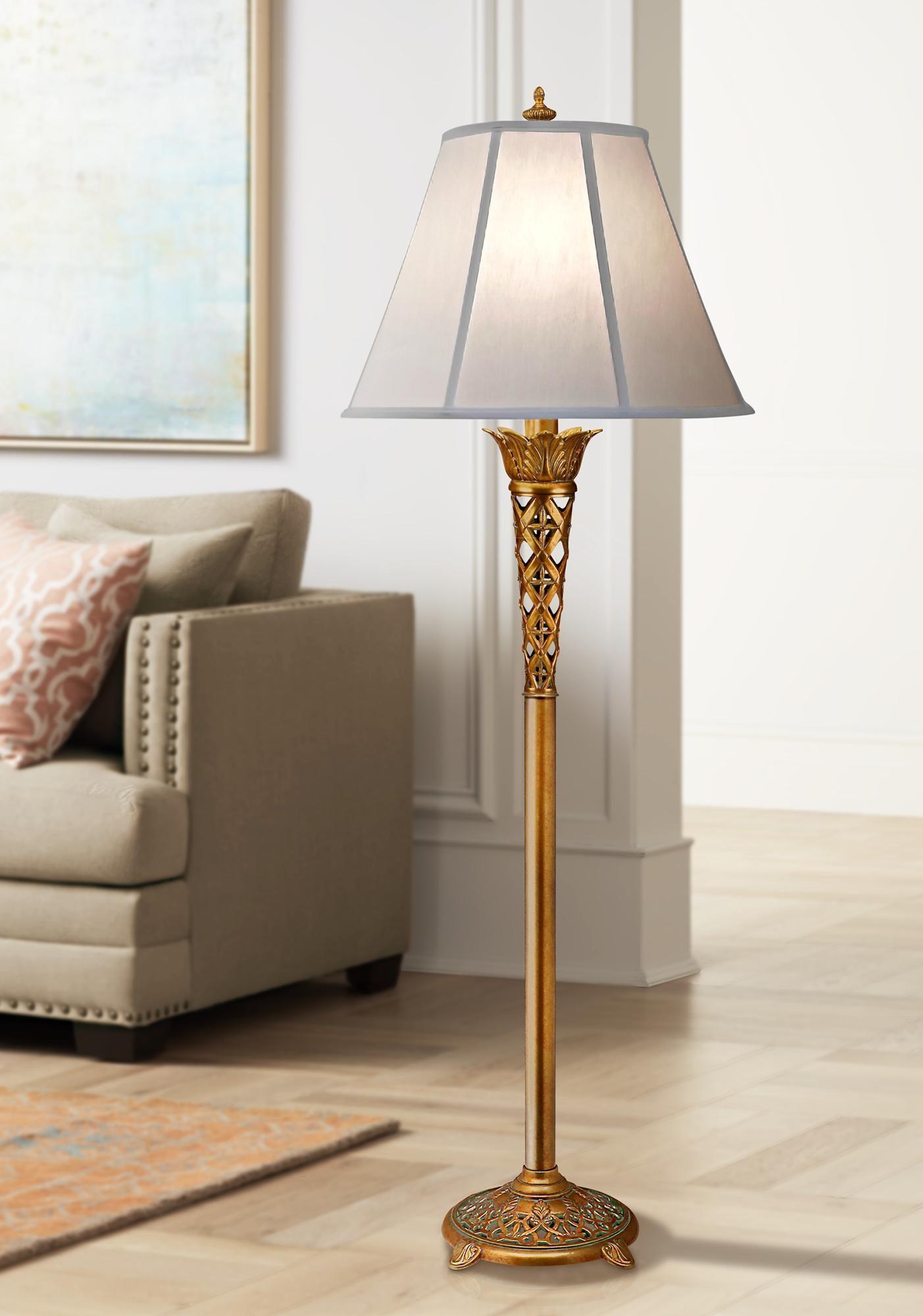 Floor Lamps Stiffel Mcdermott French Gold Floor Lamp In 2020 Gold Floor Lamp Lamp Floor Lamp