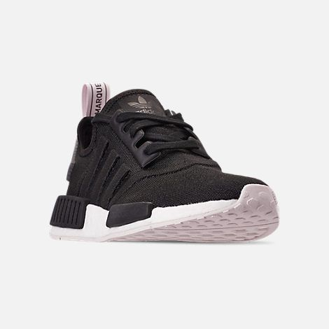 Three Quarter view of Women's adidas NMD R1 Casual Shoes in Core ...