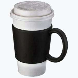 To Go Coffee Cup Sleeve Black Holder With Handle Grip New Free