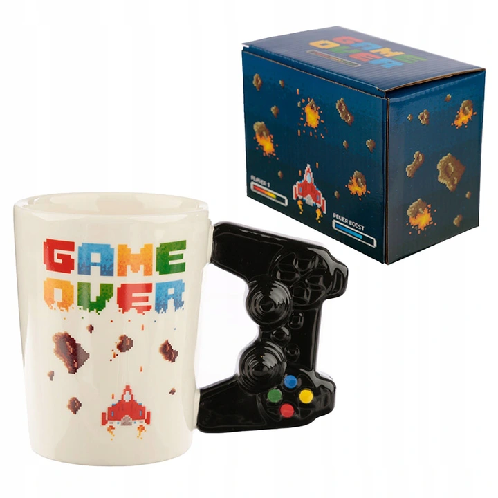 Kubek Game Over Prezent Gracza Pad Joystick Faceta 8652894105 Oficjalne Archiwum Allegro Mugs Novelty Gifts Unique Gifts