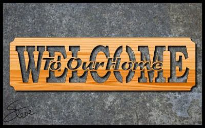Welcome Sign Scroll Saw Pattern Scrollsaw Workshop