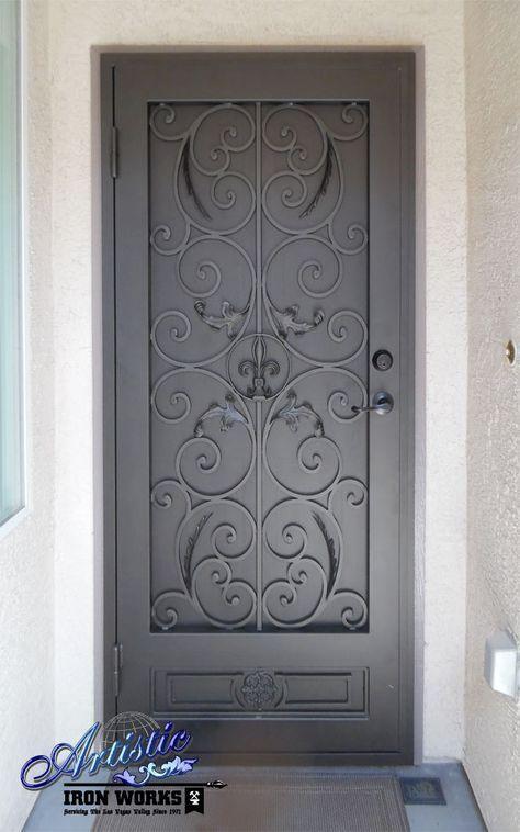 Fleur De Lis Wrought Iron Security Screen Door Doors