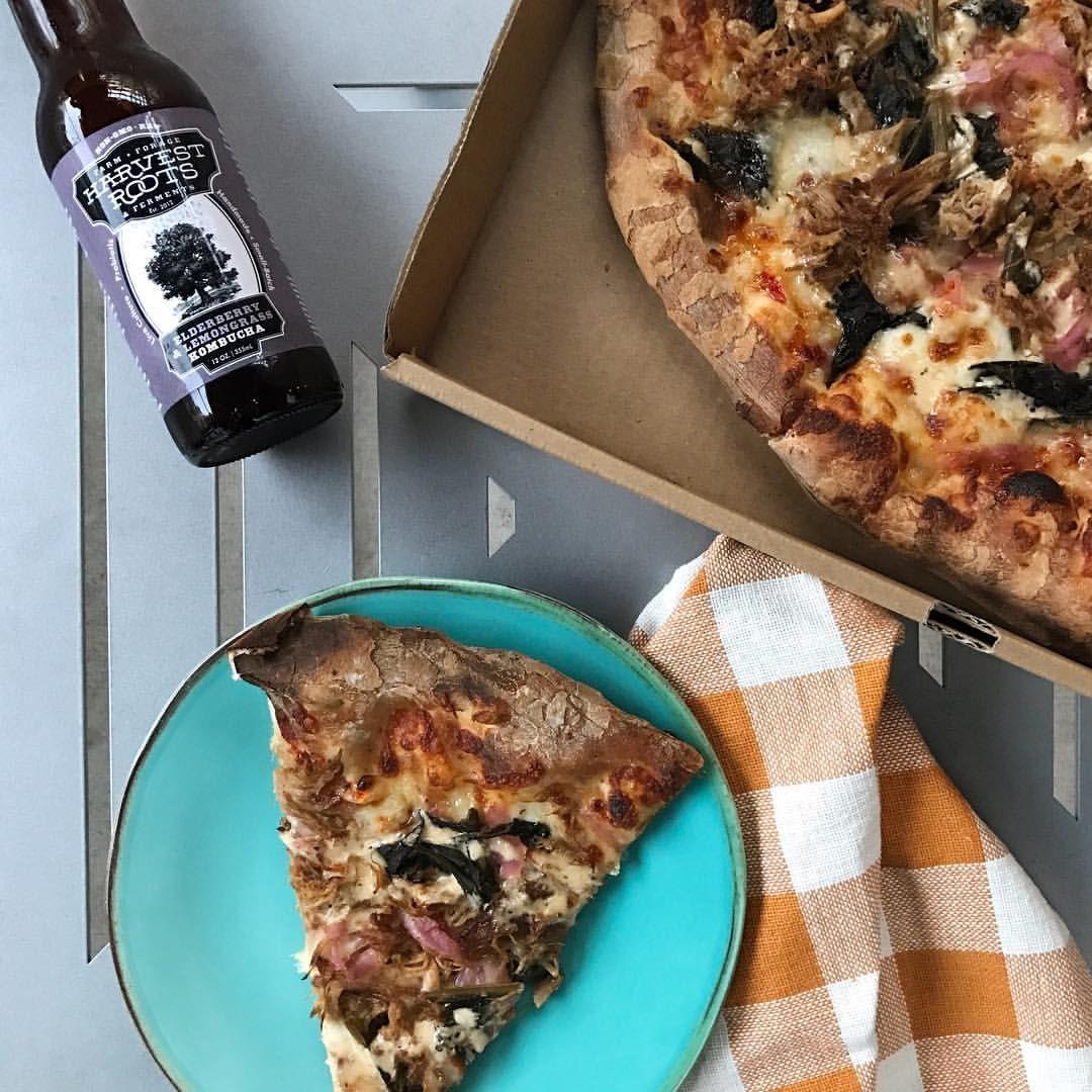 Whole foods spazio pizza kombucha eathuntsville pizza