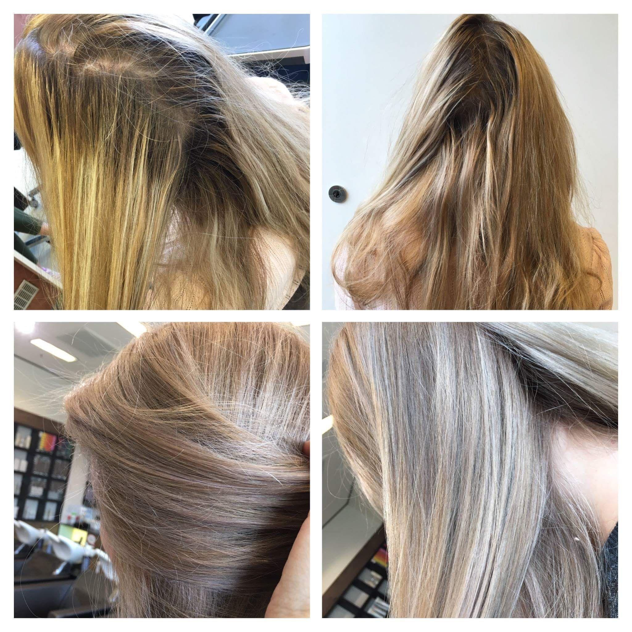 Before And After Vorher Nachher Blond Hair Illumina