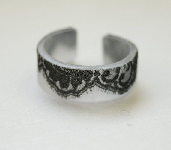 shrinky dinks | Lace Design Shrinky Dink Ring by TwentyThirtyFive on Etsy, $5.50