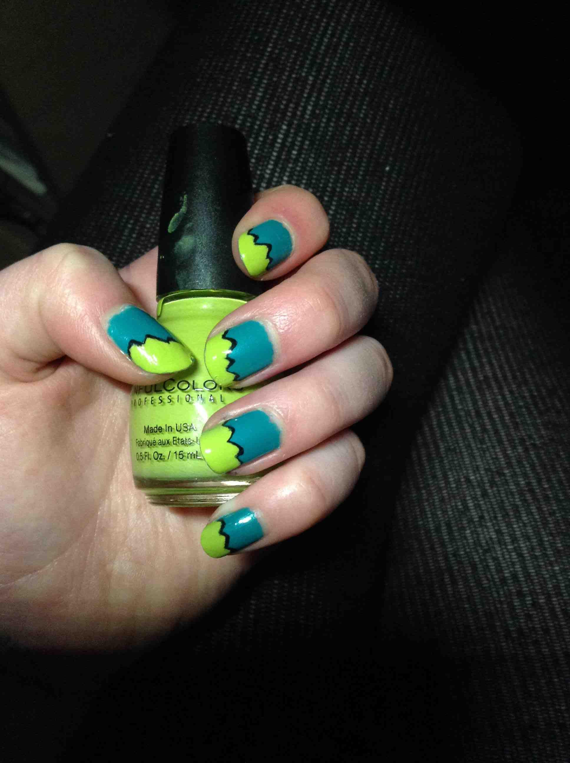 Teal and Green