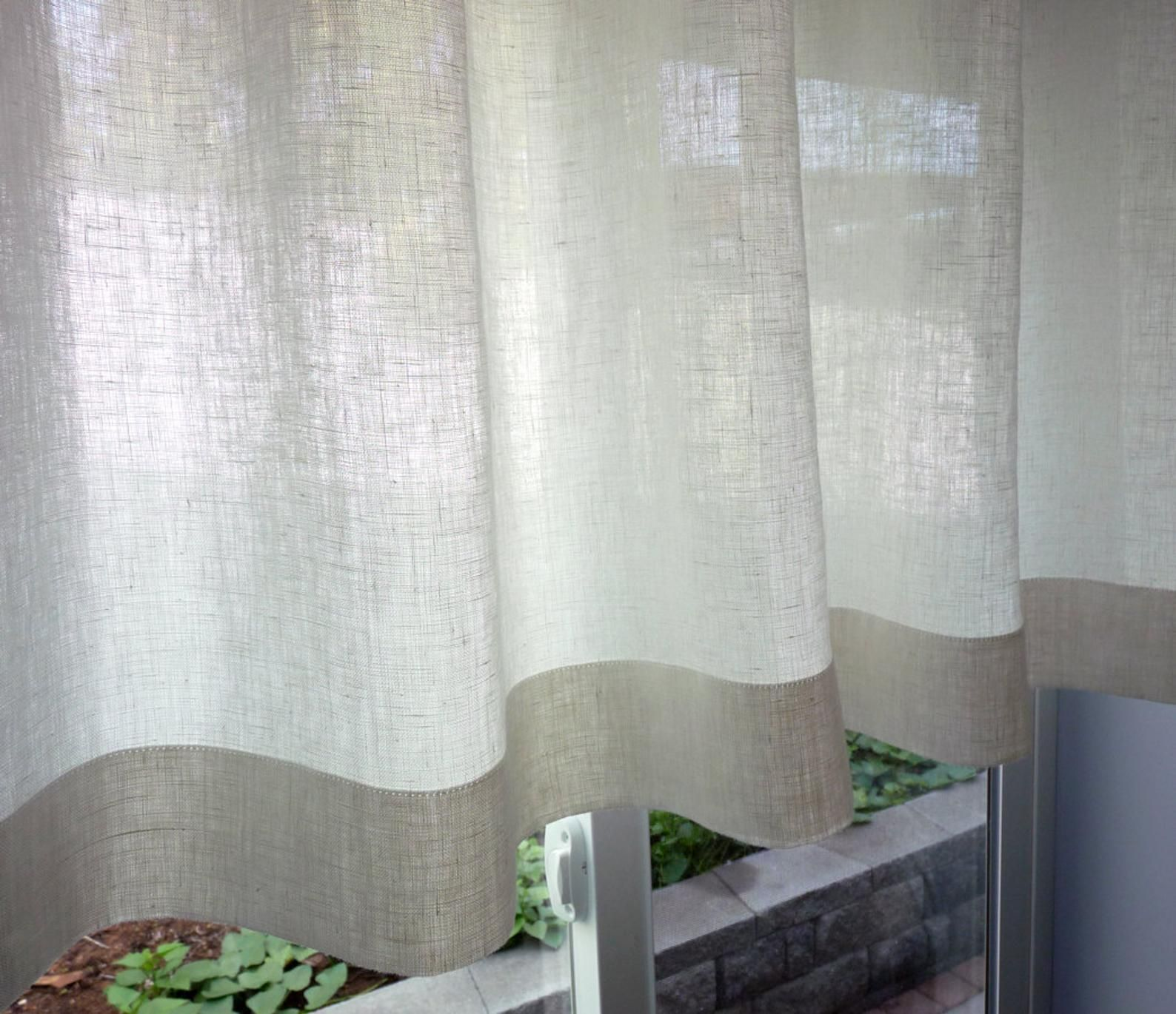 100 Flax Linen 38 Colors Custom Cafe Curtain Made To Etsy In 2020 Cafe Curtains Curtains Custom Curtains