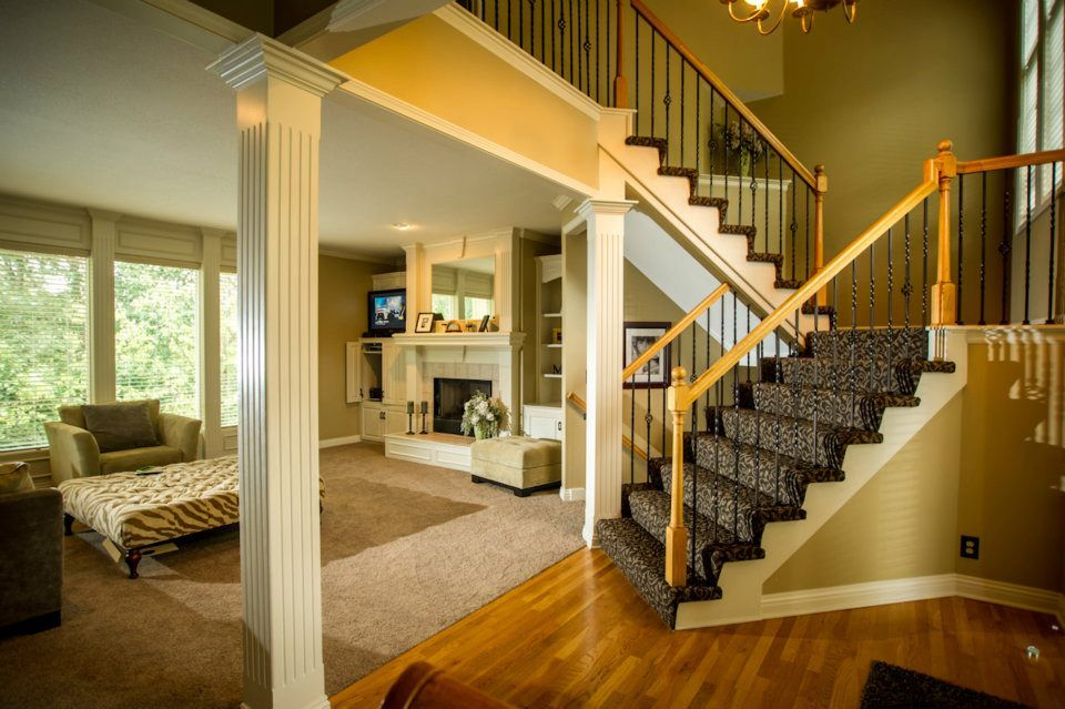 Best Beautiful Full Wrap Carpet Stairs In This Neutral And 400 x 300