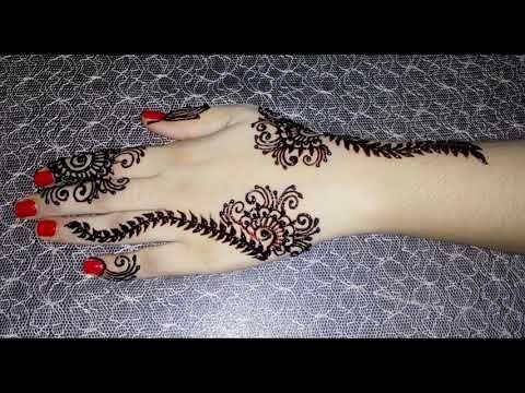 Eid special mehndi for girls   New latest heena designs   Elegent Mehndi With Tayyaba - YouTube