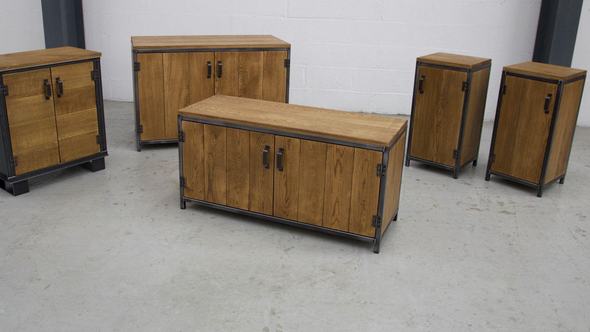 Credenza Industrial Fai Da Te : The workshop cupboard steel vintage industrial furniture