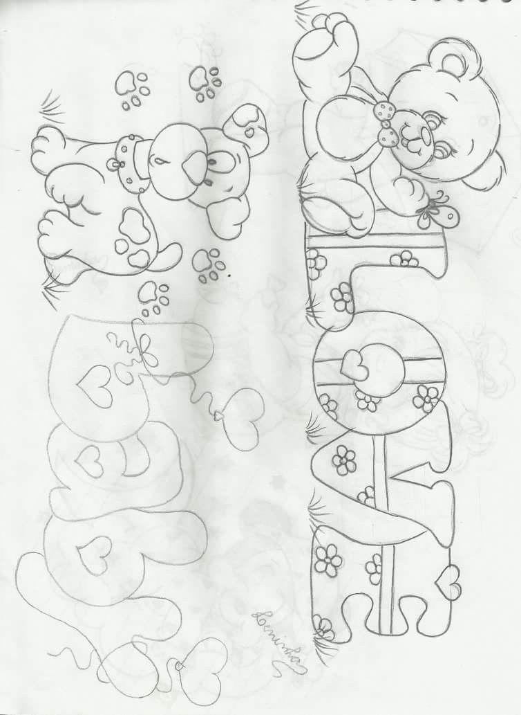 Pin De Adiela Pizarro Em Dibujos Paginas Para Colorir Moldes De Desenhos Pintura Em Fraldas