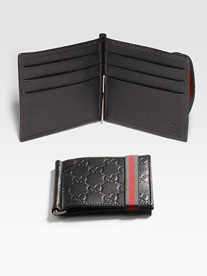 6ea9820c2699 Gucci Money Clip Wallet | My Style | Clip wallet, Money clip wallet ...
