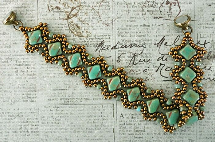 Linda's Crafty Inspirations: Free Beading Pattern: Esther Silky Bracelet