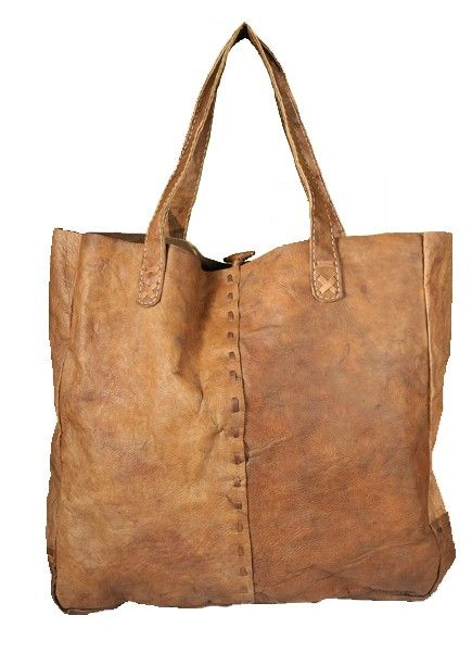 Extra large leather tote bag. Handmade with organically cured ...