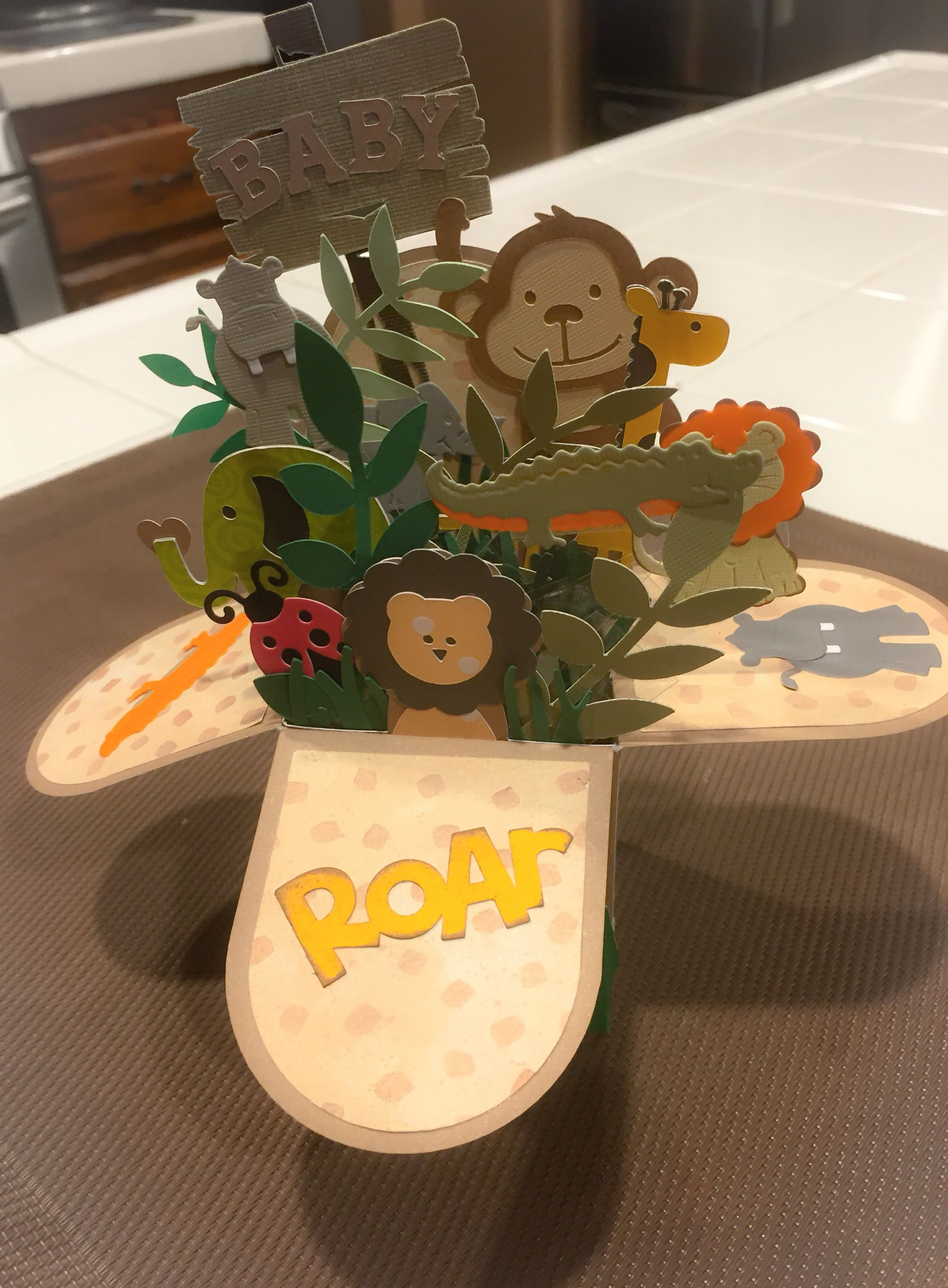 Baby shower box cardhomemadecricut and cottage cutz