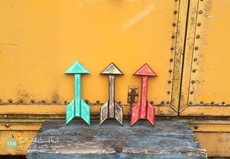 Wood Arrow - Small - Trendy Wall Art - Handmade - Wooden - Wall ...