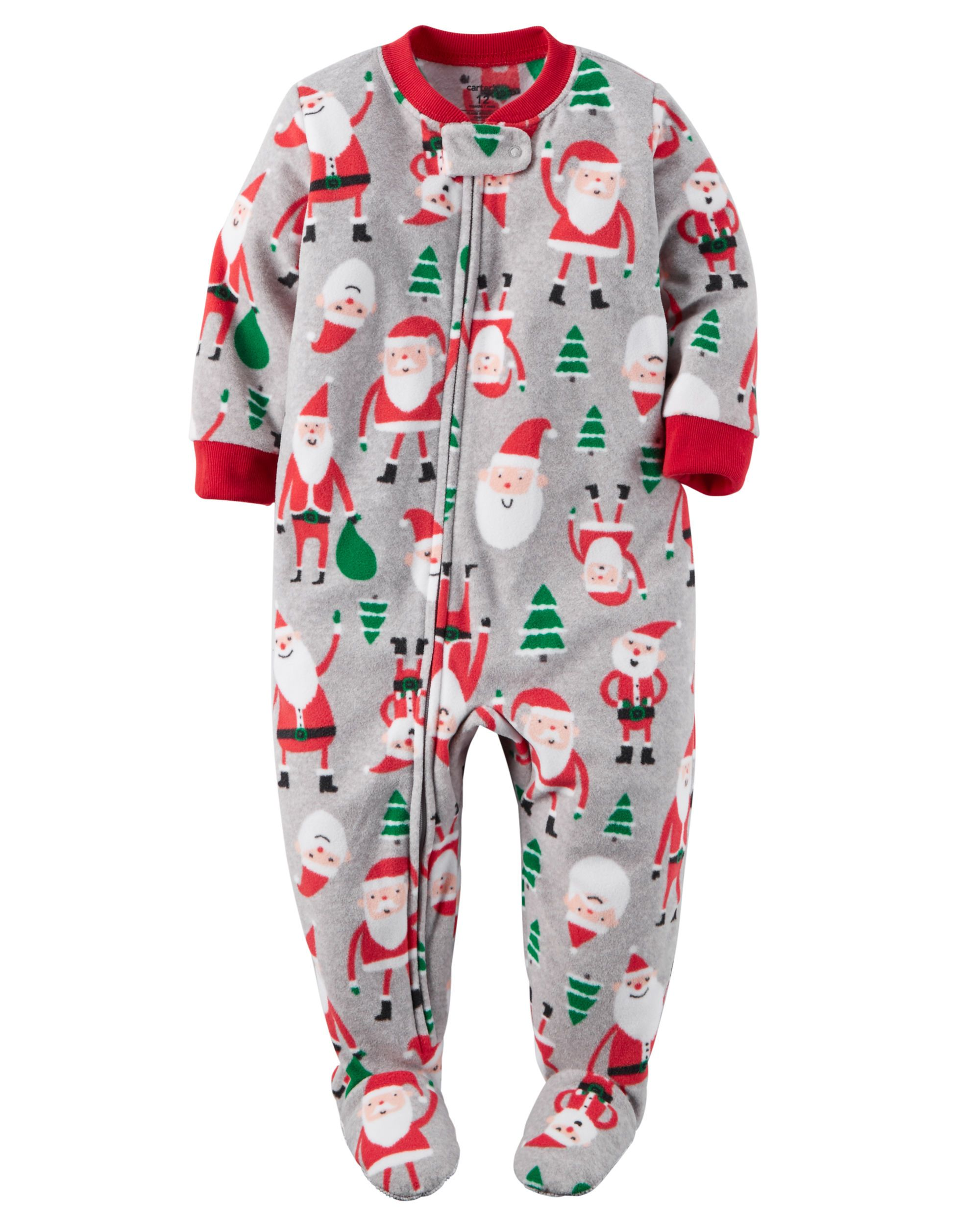 4f332d9cf871 xth16for little b Baby Boy 1-Piece Fleece Christmas PJs from Carters ...