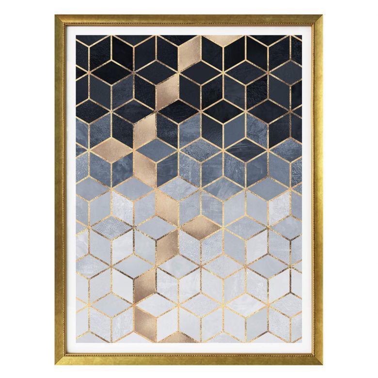 Poster Fredriksson - Blaue Geometrie