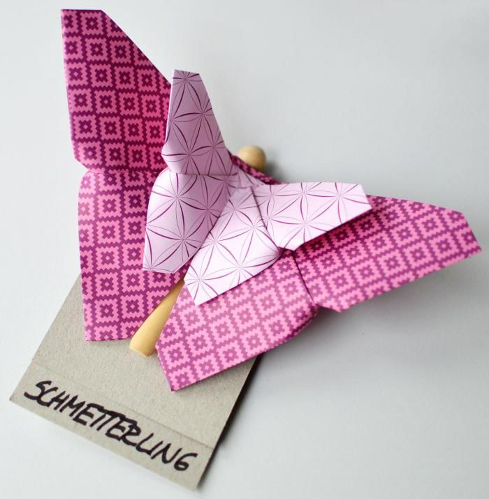 diy butterfly schmetterling origami paper papier falten mit anleitung basteln mit papier. Black Bedroom Furniture Sets. Home Design Ideas
