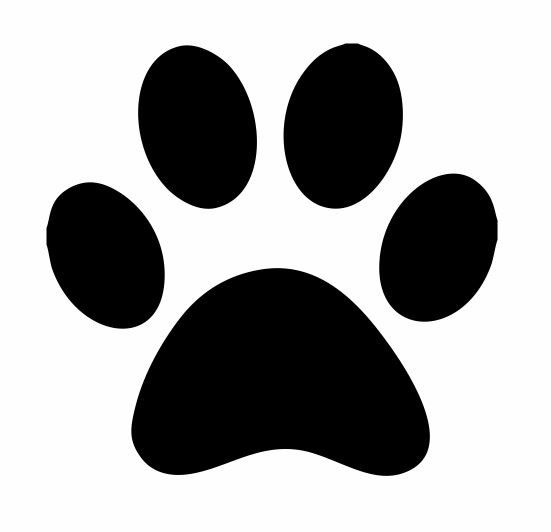 Animal Foot Print Decal: Paw Print Decals, Paw Print Decal