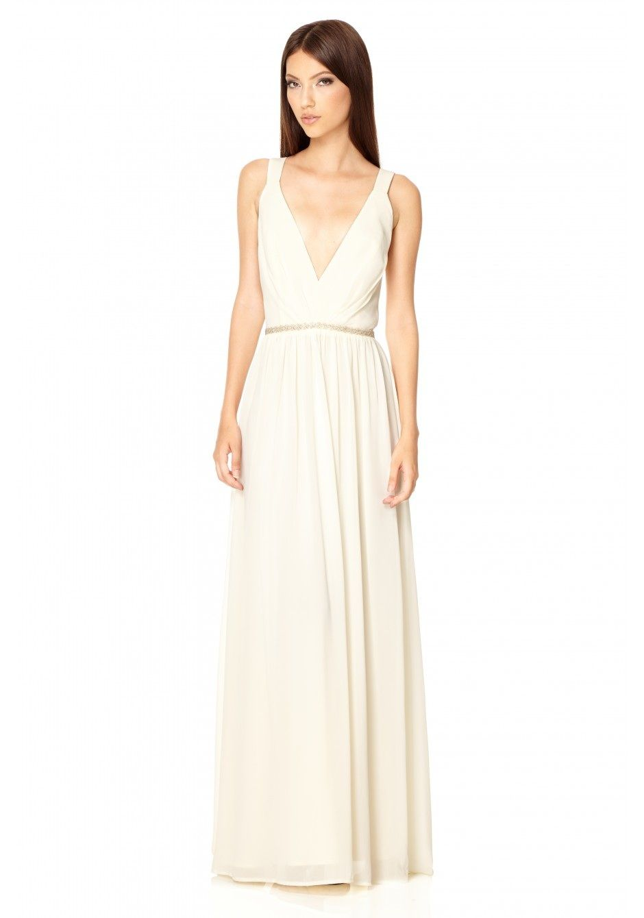 The Jarlo London Cristobel Dress in ivory is a truly stunning ...