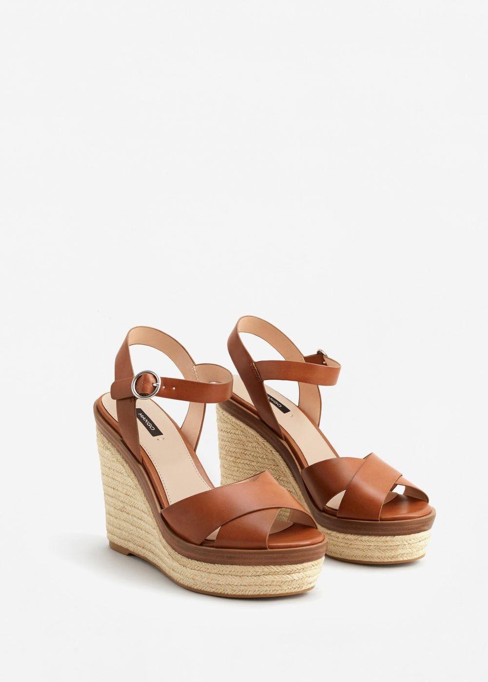 d9d866aeb2d2 Wedge criss-cross sandals - Women