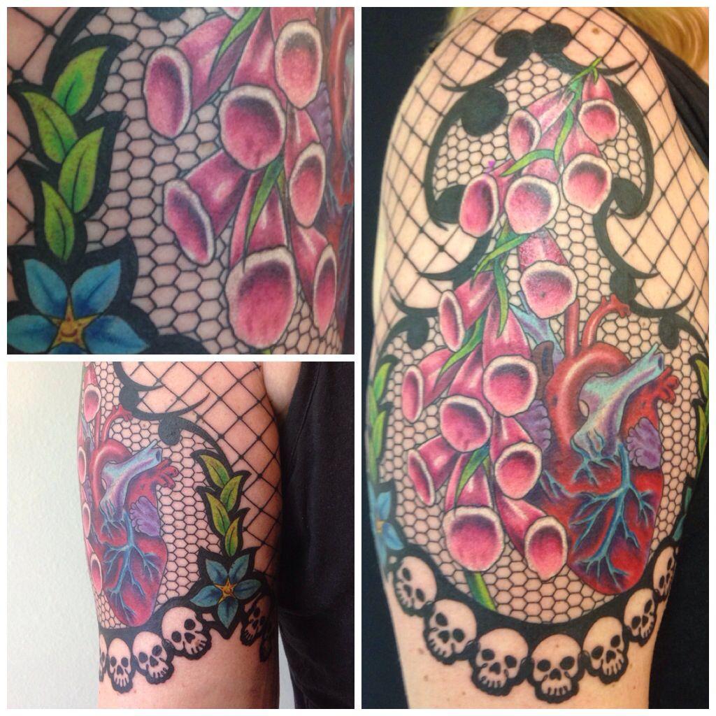Ink Junkies Arvada Co Lace Tattoo Foxglove Tattoo Lace Tattoo Tattoos New Tattoos