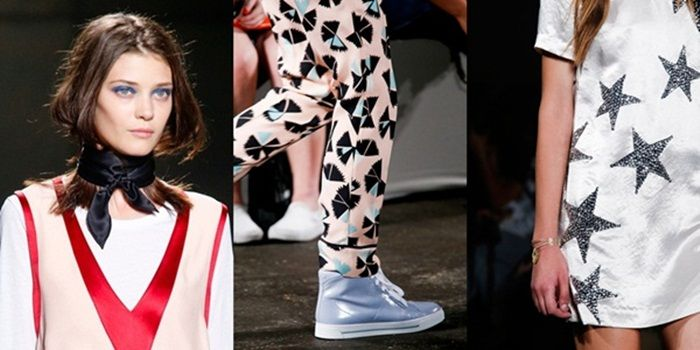 NYFW: MUST-SEE SS14 COLLECTIONS & MINI-TRENDS - Marc by Marc Jacobs - Neckerchief anyone? Or maybe you'd rather metallic trainers and star prints