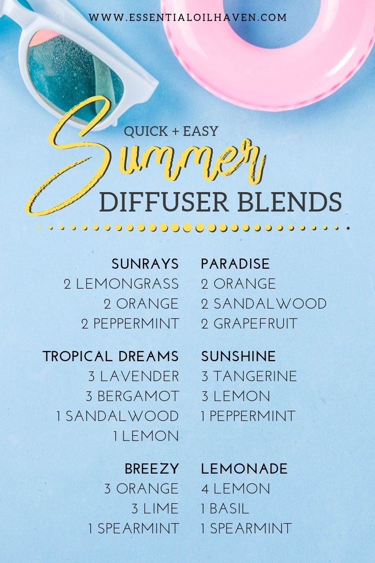 8 Summer Diffuser Blends You'll Want to Try!