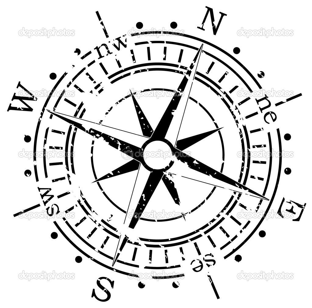 Grunge Compass Stock Vector C Dmstudio 6720627 Compass Tattoo Compass Drawing Compass