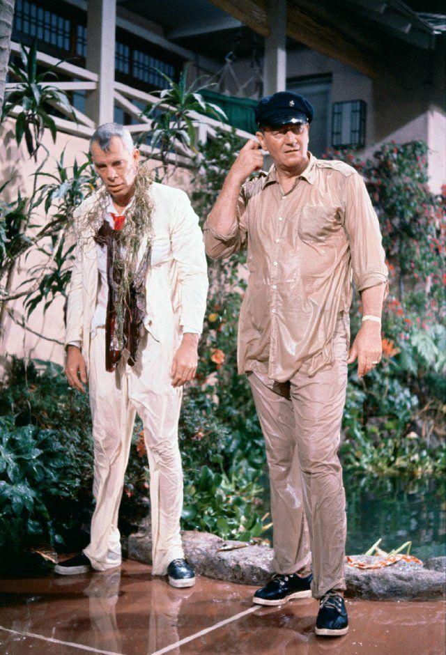 John Wayne and Lee Marvin in \
