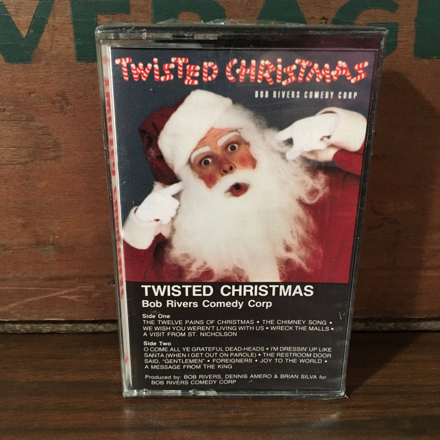 Bob Rivers Twisted Christmas.Bob Rivers Twisted Christmas Vintage Cassette Tape Sealed