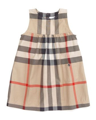 0ab32a48c3ea Check+Sleeveless+Dress+by+Burberry+at+Neiman+Marcus. Burberry for little  girls!