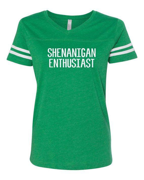 78a34e107 Ladies v-neck tee, St. Patricks day shirt, Shenanigans shirt, I Shenanigans  tee, Funny st. Patricks