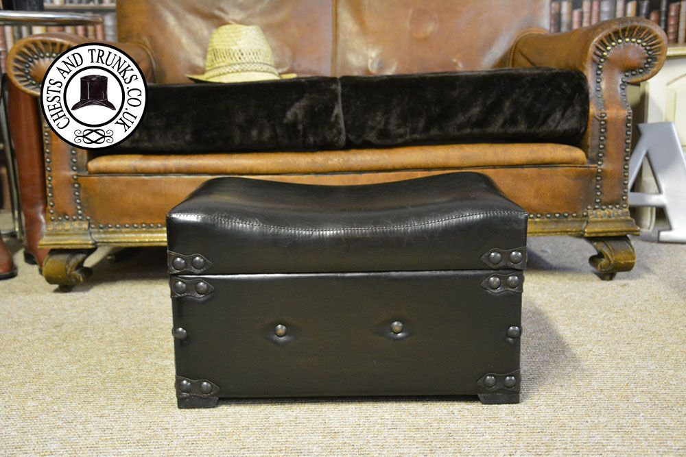Small Leather Trunk Storage Seat / Footrest