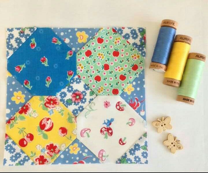 Marie Austin Happy Flower Quilt block 21
