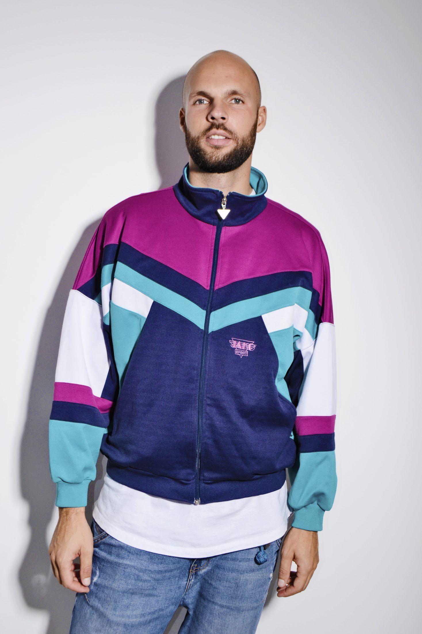 Vintage Puma Athleisure sweatshirt 90s zip up sweatshirt blue womens zipper jacket sweat shirt track jacket Vintage 80s Size Small