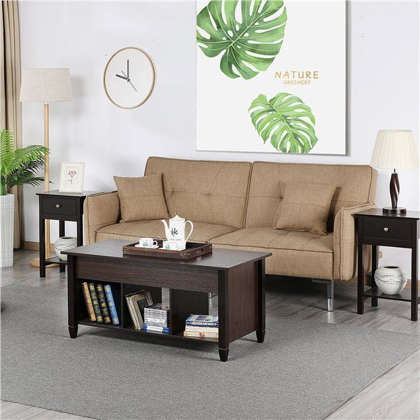 SmileMart Modern Lift Top Coffee Table Storage for
