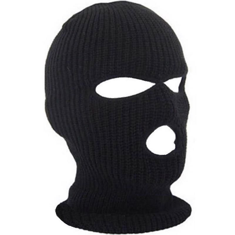 d5869543e9a Full Face Cover Mask Three 3 Hole Knit Hat Winter Stretch Snow Hat Cap Warm   Unbranded