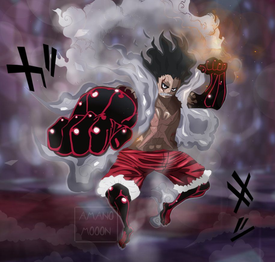 """With these conditions met, luffy transformed into tank man """"stuffed version."""" this form gives him incredible defensive power as he can recoil any weapons directed at him. Luffy Gear Fourth Snake Man Peepsburgh"""
