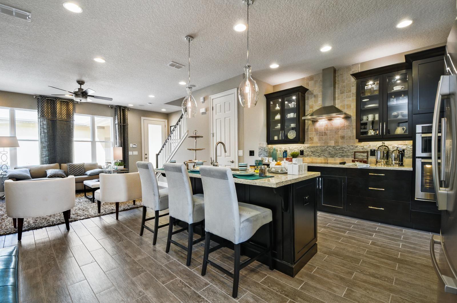 Orlando Model Homes Ikea Pendant Light Lighting Open Kitchen And Living Room
