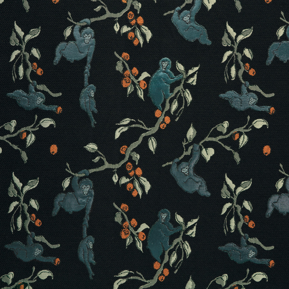 Saru In Aiosaru From Zak Fox Multicolor Monkeys Textile Interiordesign Designinspiration Thetextilefiles Clothandkindshowroom In 2020 Textiles Shinto Tapestry