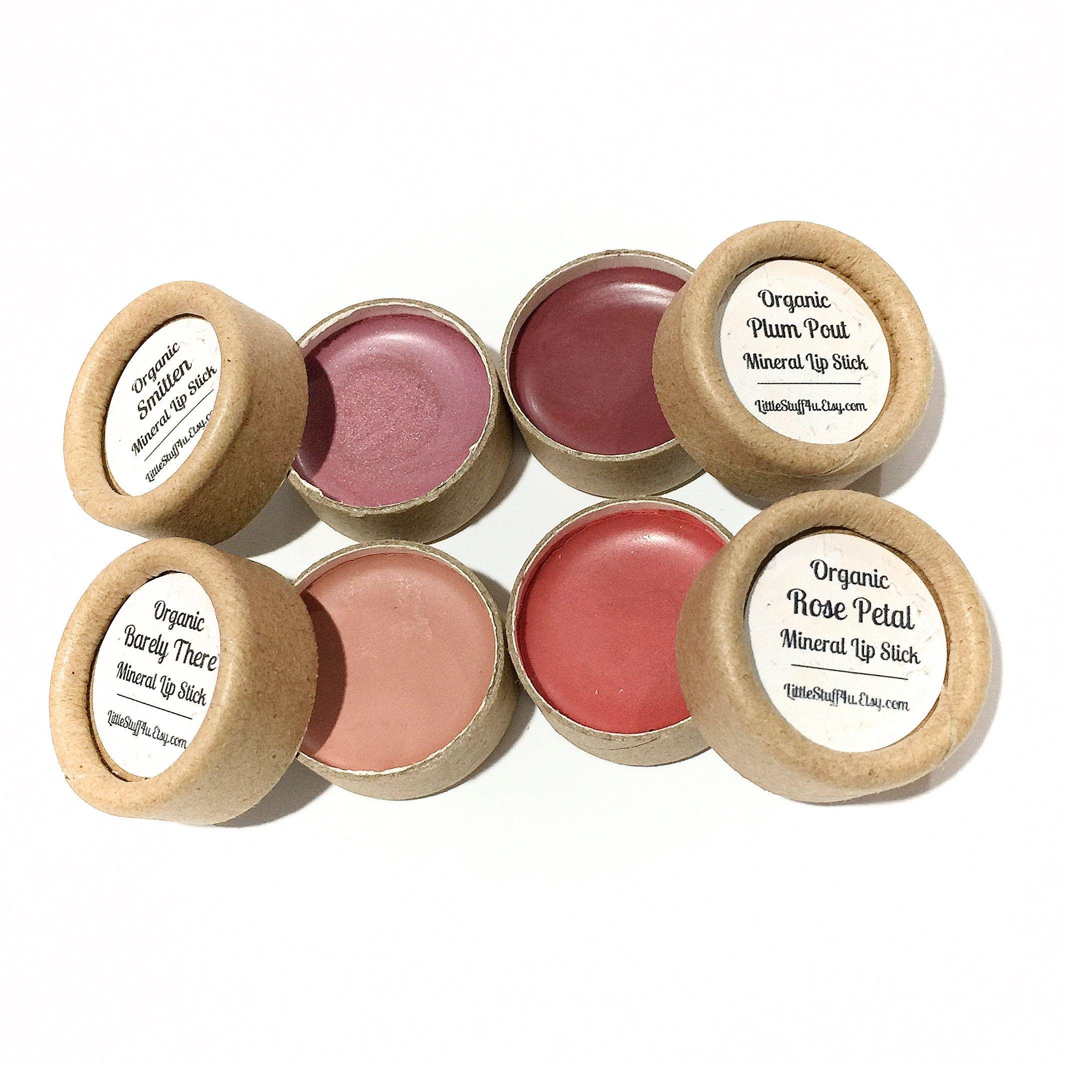 ORGANIC Lipstick SAMPLES Eco Friendly Paperboard Lippy
